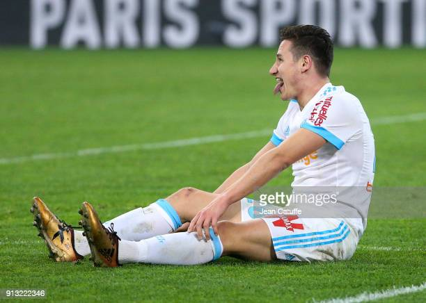 Florian Thauvin of OM during the French Ligue 1 match between Olympique de Marseille and AS Monaco at Stade Velodrome on January 28 2018 in Marseille...