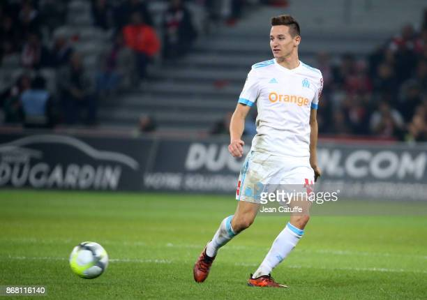 Florian Thauvin of OM during the French Ligue 1 match between Lille OSC and Olympique de Marseille at Stade Pierre Mauroy on October 29 2017 in Lille...