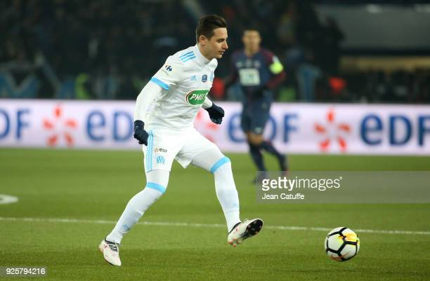 Florian Thauvin of OM during the French National Cup match between Paris Saint Germain and Olympique de Marseille at Parc des Princes stadium on...