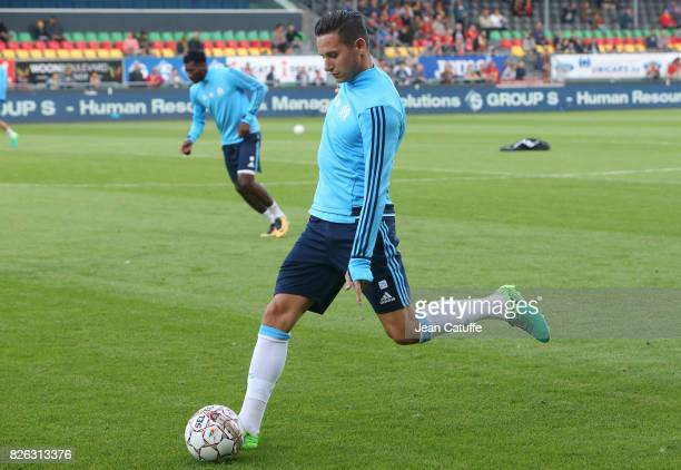 Florian Thauvin of OM during the UEFA Europa League third qualifying round second leg match between KV Oostende and Olympique de Marseille at...