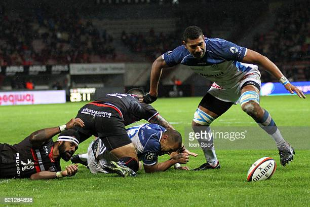 Florian Vialele of Castres during the Top 14 match between Stade Toulousain and Castres Olympique on November 5 2016 in Toulouse France