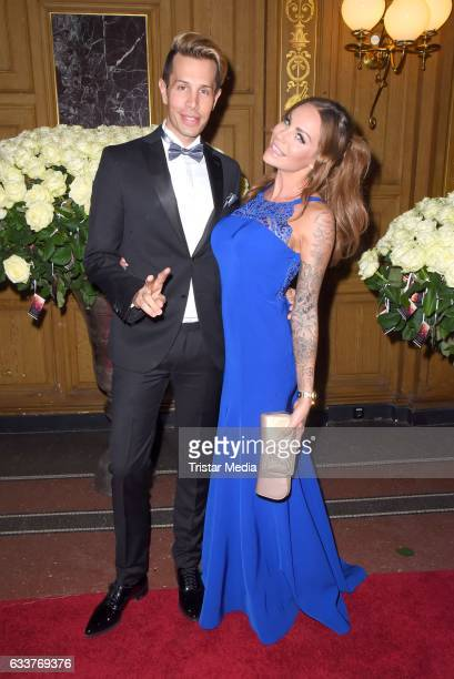Florian Wess and Gina Lisa Lohfink during the Semper Opera Ball 2017 at Semperoper on February 3 2017 in Dresden Germany