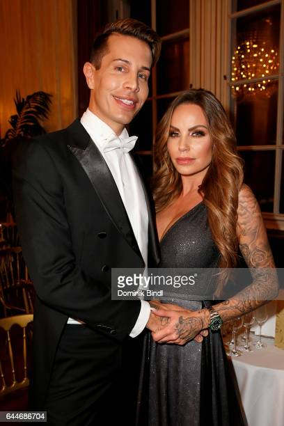 Florian Wess and GinaLisa Lohfink during the Opera Ball Vienna at Vienna State Opera on February 23 2017 in Vienna Austria