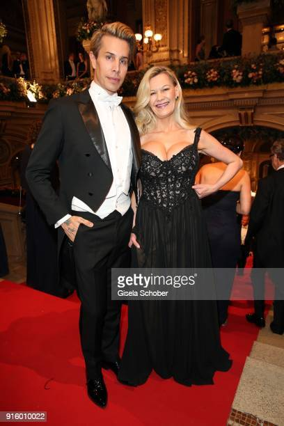 Florian Wess and Sibylle Rauch during the Opera Ball Vienna at Vienna State Opera on February 8 2018 in Vienna Austria
