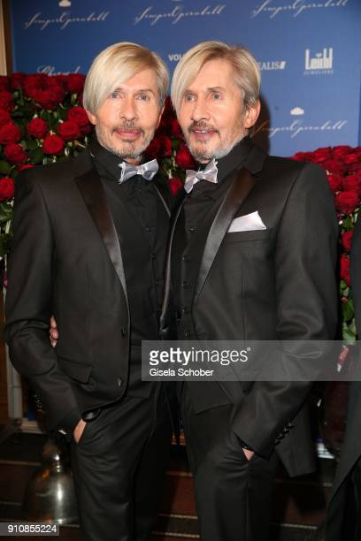 Florian Wess ' father Arnold Wess and his uncle Oskar Wess during the Semper Opera Ball 2018 at Semperoper on January 26 2018 in Dresden Germany