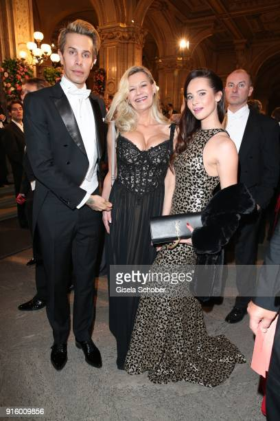 Florian Wess Sibylle Rauch and Nicole Mieth during the Opera Ball Vienna at Vienna State Opera on February 8 2018 in Vienna Austria