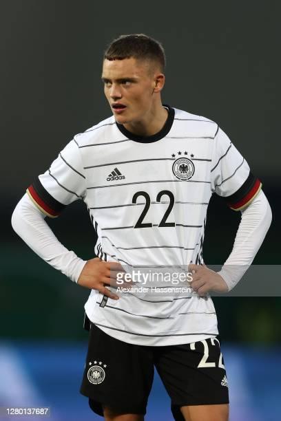 Florian Wirtz of Germany looks on during the UEFA Euro Under 21 Qualifier match between Germany U21 and Bosnia-Herzegovina U21 at Sportpark Ronhof...