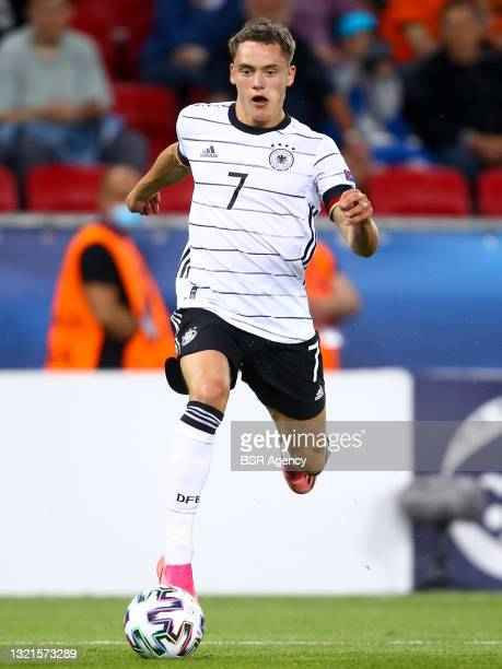 Florian Wirtz of Germany U21 during the 2021 UEFA European Under-21 Championship Semi-Finals match between Netherlands and Germany at MOL Arena Sosto...