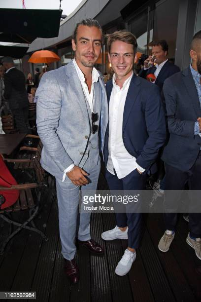 Florian Wuensche and Marvin Linke attend the Audi Ascot Race Day at Neue Bult horse racing track on August 18 2019 in Langenhagen Germany