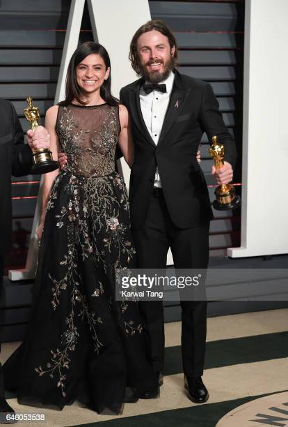 Floriana Lima and Casey Affleck arrive for the Vanity Fair Oscar Party hosted by Graydon Carter at the Wallis Annenberg Center for the Performing...