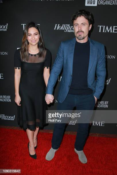 Floriana Lima and Casey Affleck attend the Sean Penn J/P HRO gala benefiting J/P Haitian Relief Organization and a coalition of disaster relief...