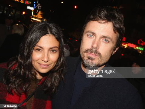 Floriana Lima and Casey Affleck pose at the opening night of the new Kenneth Lonergan play The Waverly Gallery on Broadway at The Golden Theatre on...