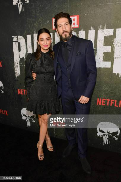 Floriana Lima and Jon Bernthal attend Marvel's The Punisher Los Angeles Premiere at ArcLight Hollywood on January 14 2019 in Hollywood California