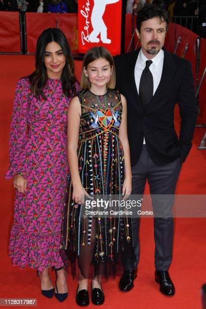 Floriana Lima Anna Pniowsky and Casey Affleck attend the Light Of My Life premiere during the 69th Berlinale International Film Festival Berlin at...
