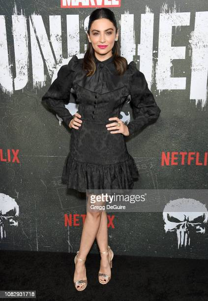 Floriana Lima arrives at Marvel's The Punisher Los Angeles Premiere at ArcLight Hollywood on January 14 2019 in Hollywood California