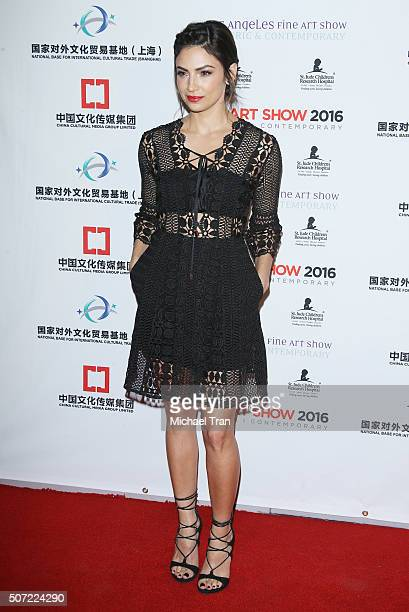 Floriana Lima arrives at the LA Art Show and Los Angeles Fine Art Show's 2016 opening night premiere party benefiting St Jude Children's Research...