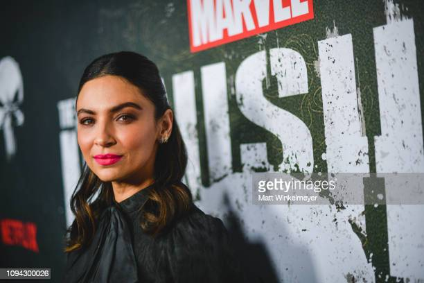 Floriana Lima attends Marvel's The Punisher Los Angeles Premiere at ArcLight Hollywood on January 14 2019 in Hollywood California