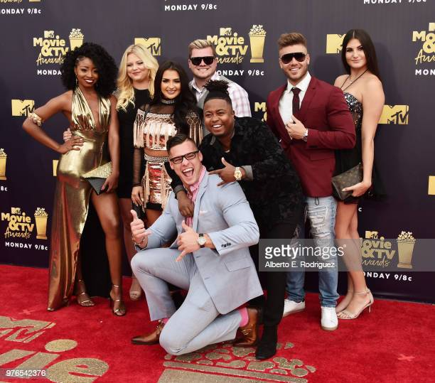 Floribama Shore cast members attend the 2018 MTV Movie And TV Awards at Barker Hangar on June 16 2018 in Santa Monica California