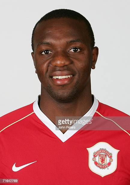 Floribert Ngalula of Manchester United poses during an official photocall at Carrington Training Ground on August 10 2006 in Manchester England