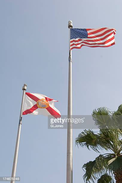Florida and US Flags
