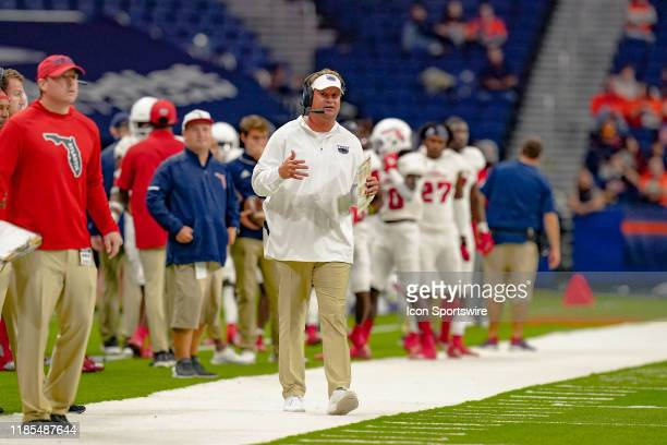 Florida Atlantic Owls head coach Lane Kiffin looks on during the game between the Florida Atlantic Owls and the UTSA Roadrunners on November 23 2019...