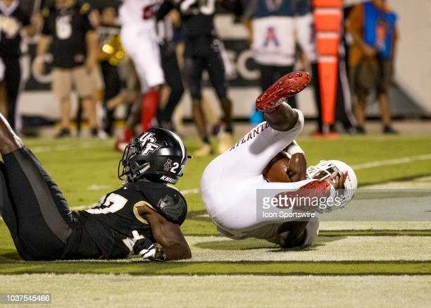 Florida Atlantic Owls running back Devin Singletary scores a touchdown and ties the score during the football game between UCF and FAU on September...