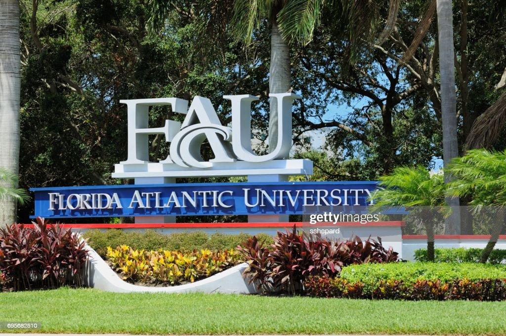Florida Atlantic University sign : Stock Photo