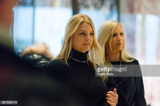 Florida Attorney General Pam Bondi a member of the Presidential transition team passes through Trump Tower lobby on the way to her meeting with...