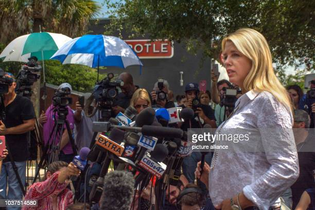 Florida Attorney General Pam Bondi addresses the media at an afternoon press conference near the scene of the mass shooting in Orlando Florida 12...