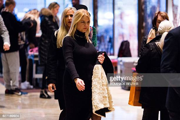 Florida Attorney General Pam Bondi arrives at Trump Tower in New York for meetings with US Presidentelect Donald Trump on December 2 2016 / AFP /...