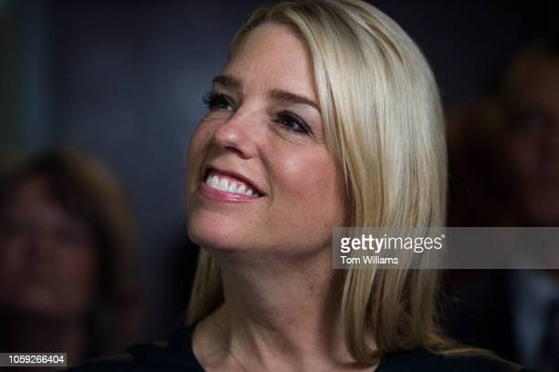 Florida Attorney General Pam Bondi attends a rally with Florida governor candidate Rep Ron DeSantis RFla and other GOP candidates at the Hillsborough...