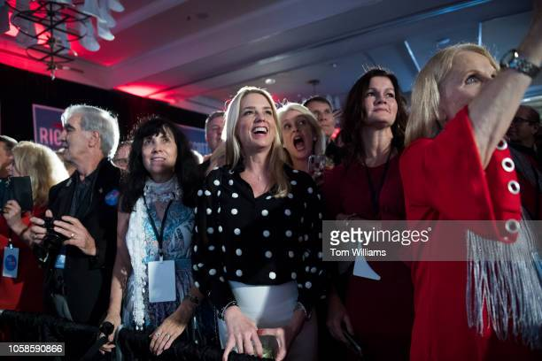 Florida Attorney General Pam Bondi cheers during an election night party for Florida Gov Rick Scott in Naples Fla before Scott declared victory in...