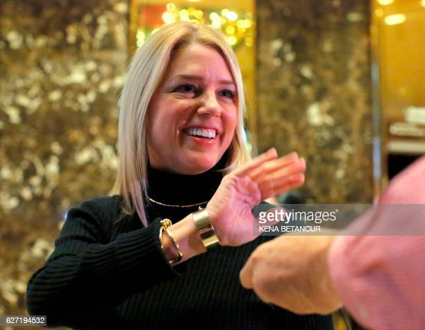 Florida Attorney General Pam Bondi speaks to the media at Trump Tower in New York after meetings with US Presidentelect Donald Trump on December 2...