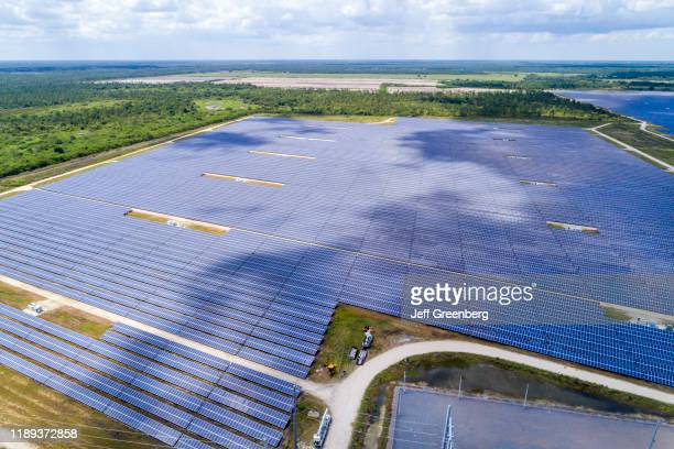Florida Babcock Ranch aerial of large photovoltaic power station