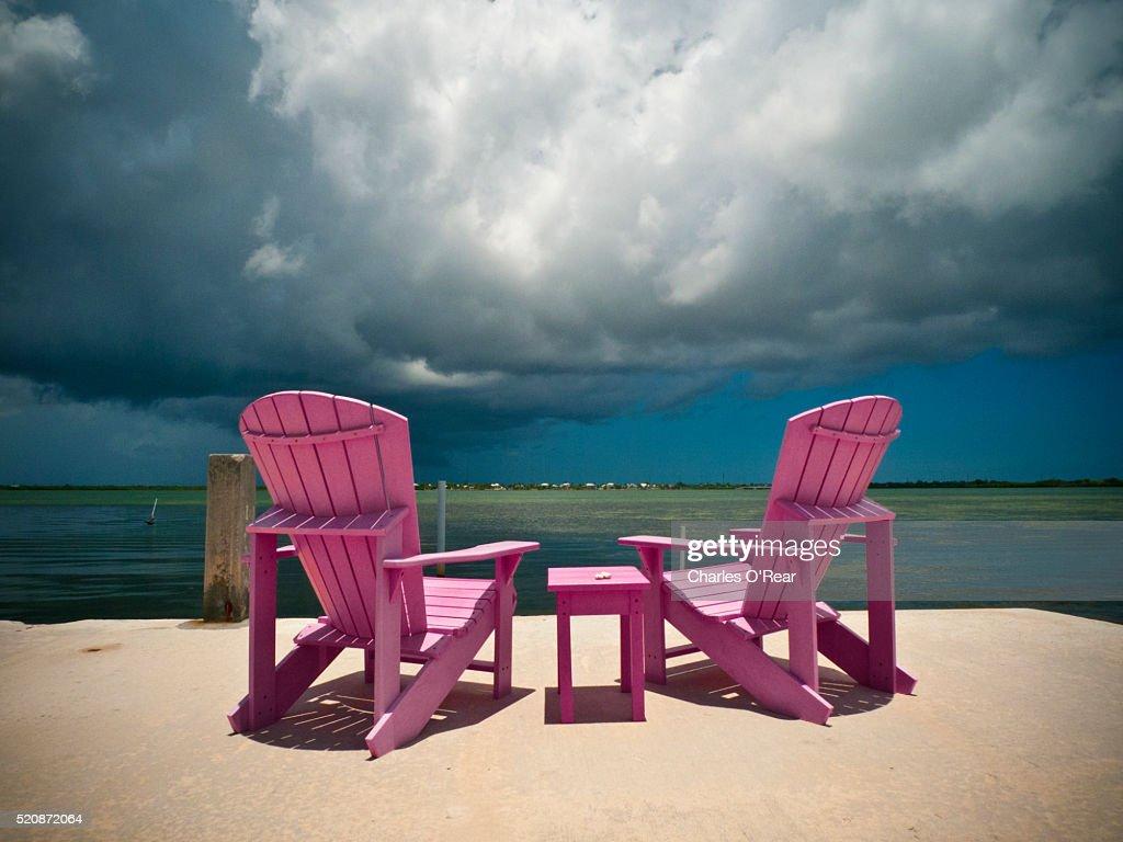 Florida Beach Chairs : Stock Photo