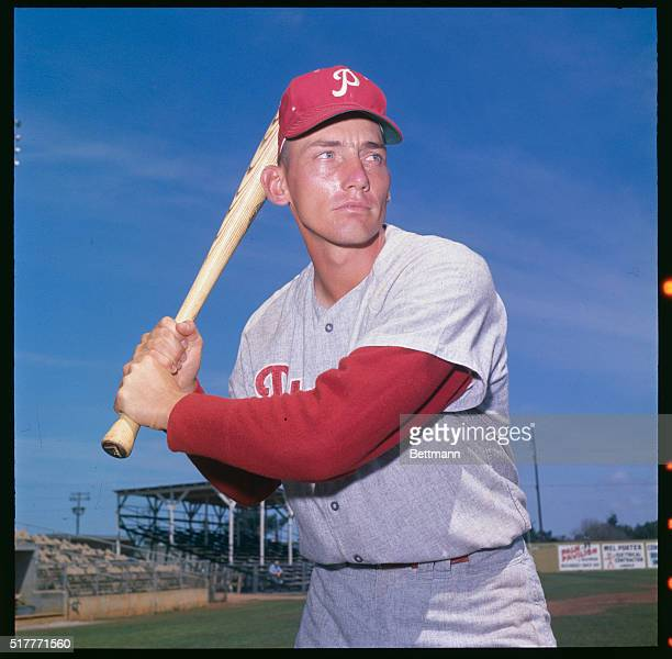 Bobby Wine of the Phillies during spring training April 1964