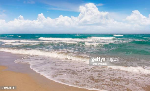 USA, Florida, Boca Raton, Beach with surf