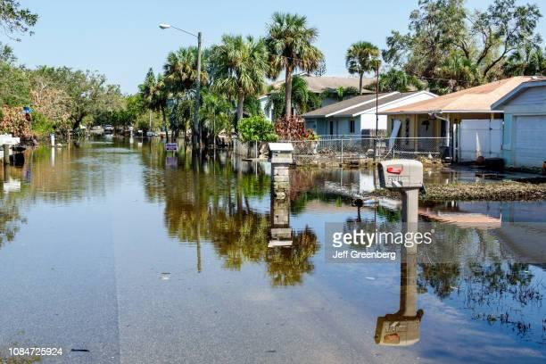 Florida, Bonita Springs, Flooded street, Hurricane Irma damage.