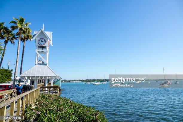 Florida Bradenton Beach Historic Bridge Street Pier clock tower