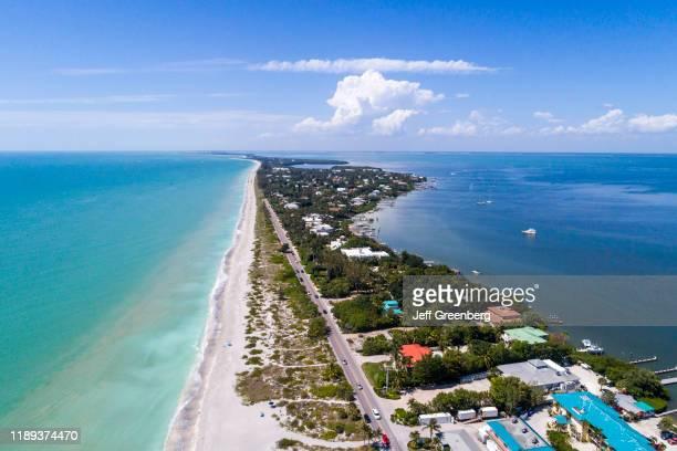 Florida Captiva Island coastline and resorts