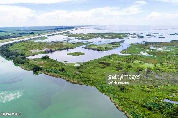 Florida Clewiston Lake Okeechobee Waterway aerial