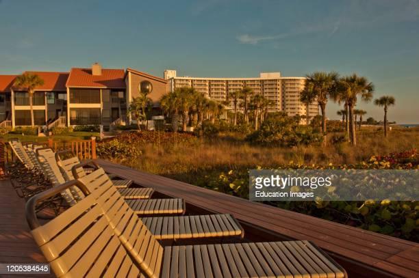 Florida, Crescent Beach, Siesta Key, Sarasota, Siesta Dunes Condominium.