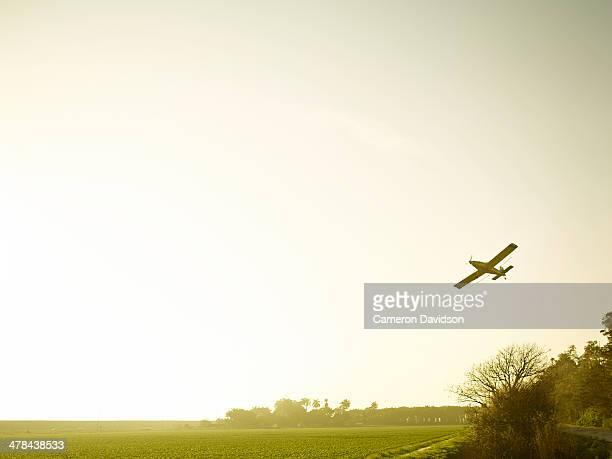 Florida crop duster in flight