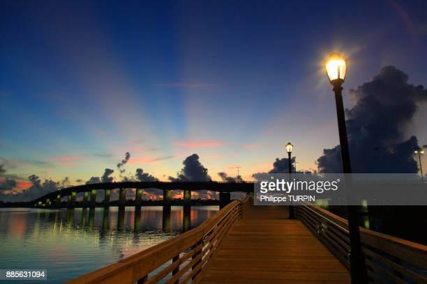 USA, Florida, Daytona Beach.Broadway Bridge International Speedway Blvd