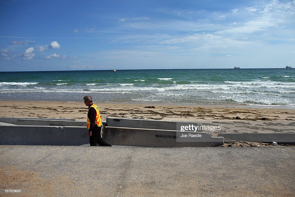 Beach Erosion In South Florida Adds To Concerns About Global Warming : News Photo