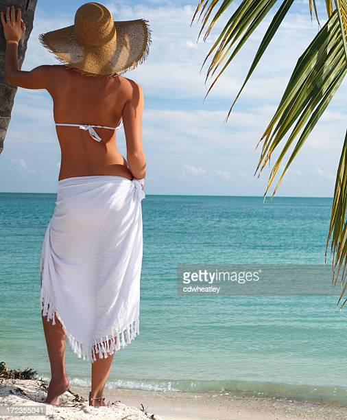 florida dreaming - sarong stock photos and pictures