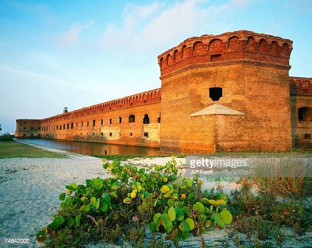 usa, florida, dry tortugas national park, fort jefferson, old structure of the fort - dry tortugas stock pictures, royalty-free photos & images