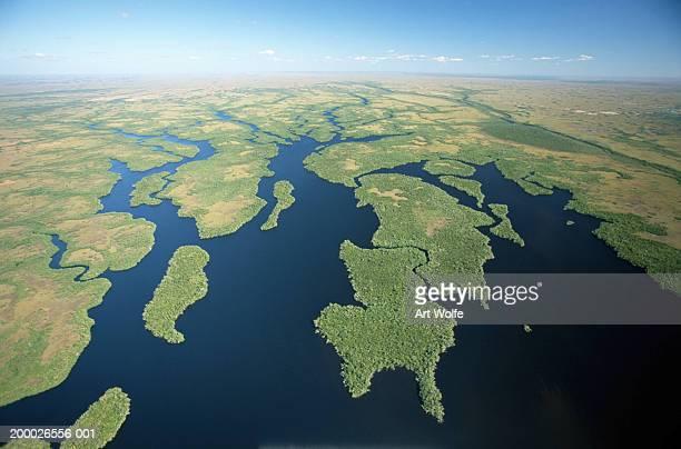 usa, florida, everglades national park, aerial view - everglades national park stock pictures, royalty-free photos & images