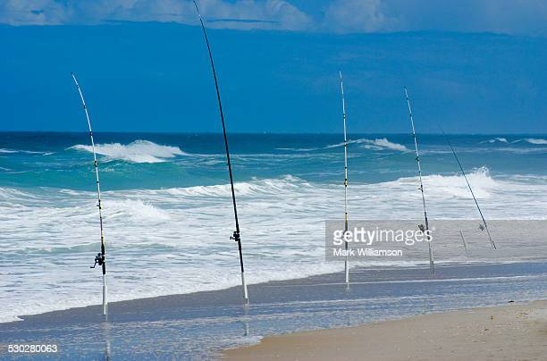 florida fishing rods. - cocoa beach stock pictures, royalty-free photos & images