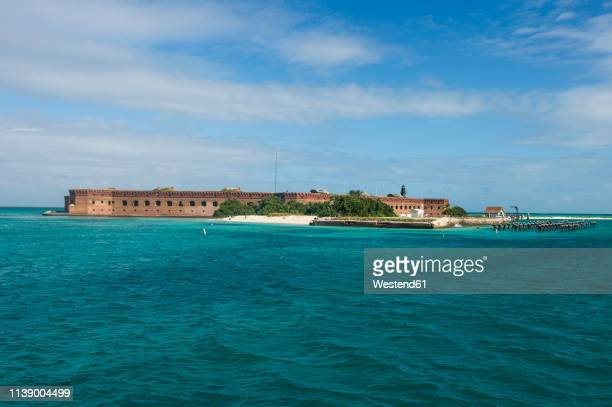 usa, florida, florida keys, dry tortugas national park, fort jefferson - dry tortugas stock pictures, royalty-free photos & images